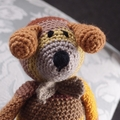Dani Bear : crochet, safe, OOAK, washable, baby shower, unisex