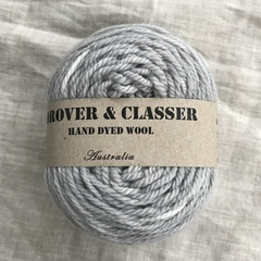 'Galvanised iron' 5ply hand dyed superfine merino yarn 100g/340g