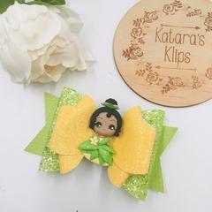 Deluxe Princess Tianna Clay Hair Bow , Birthday Bow