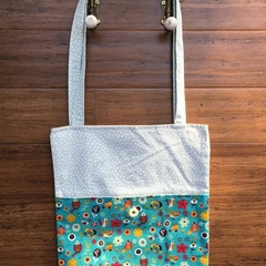 Upcycle & Recycle Tote, Birds & Flower print