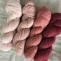 'Vintage rose' 5ply hand dyed superfine merino yarn