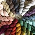 'Galvanised iron' 5ply hand dyed superfine merino yarn 100g/340g