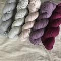'Smoke' 5ply hand dyed superfine merino yarn 100g/ 340m