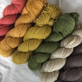 'Linen' 5ply hand dyed superfine merino yarn