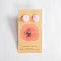 Pale pink polymer clay stud earrings