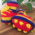 Baby Footy Bootees- Red, Blue & Yellow