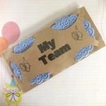 Two Cronulla Sharks Crocheted Coasters on a 'My Team' Presentation Card