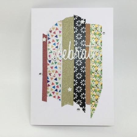 Celebrate Card - Colourful Washi Tape