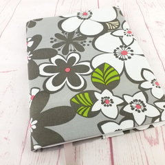 Satchi Grey Floral A5 Notebook Journal Diary Cover