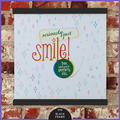 Wall Art Print with wooden hanger:  Smile!