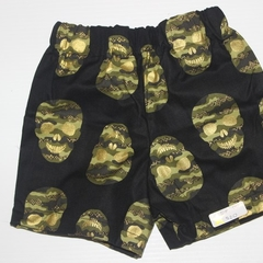Handmade Camo Skulls Cotton Shorts Size 00