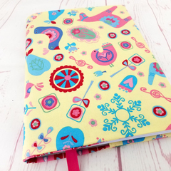Folk Art A5 Fabric Journal Cover