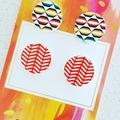 Wooden Earrings combo - Steel Post