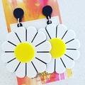 Daisies - Acrylic Dangle Earrings