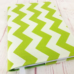 Chevron Green A5 Journal Notebook Diary Cover, A5 Refillable Diary