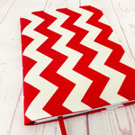 Chevron Red A5 Journal Notebook Diary Cover, A5 Refillable Diary