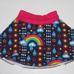 Handmade Rainbow Skater Skirt Size 2