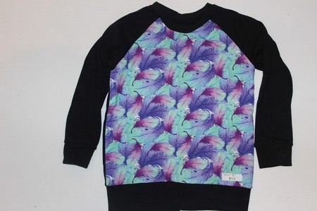 Handmade Feathers Long Sleeve Top Size 3