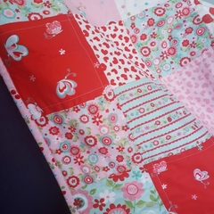 Girls Cot Quilt Blanket - Strawberry Delight