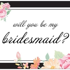 WILL YOU BE MY BRIDESMAID GIFT NOTE CARD envelope wedding gift from the bride