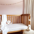 Fitted Cot Sheet - Cotton  - Unicorn Grey Gold and Pastel Pink Yellow Mint