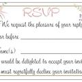 50 WEDDING INVITATIONS SET: RSVP Wishing Well Envelopes Navy Blue Vintage Floral