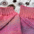 spiral legwarmers - hand knit in pure wool, size L