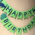 Dinosaur Garland. Happy Birthday party banner. Dino party, first birthday