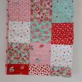 Girls Cot Quilt Blanket - Strawberry Delight