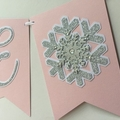 ONEderland Snowflake ONE Banner. Blush pink, silver. First Birthday party.