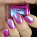 """Nail polish - """"Undertones"""" A bright purple with blue to purple shimmer"""