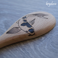 Wood Burnt Koi Fish Wooden Spoon