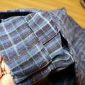 Funky 'Fawn' - blue tartan with glitter! Size 5