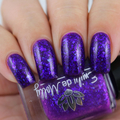 """Nail polish - """"Grace And Glory"""" A bright purple crelly with blue flakes"""