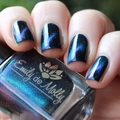 "Nail polish - ""Seventh Seal"" A very dark green magnetic effect"
