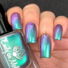 "Nail polish - ""Near And Far"" A green / blue / purple / pink multichrome polish"