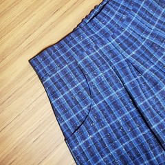 Funky 'Fawn' - blue tartan with glitter! Size 5
