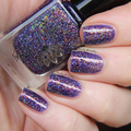 """Nail polish - """"Another Icon"""" A purple base filled with orange / green flakes"""