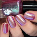 "Nail polish - ""Parallel Worlds"" A pink / purple base with green shimmer"