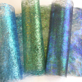 Blue and Green Sparkling Craft Paper - Textile, Art and Craft
