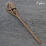 Wood Burnt Koi Fish Wooden Spoon