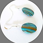 Matrix turquoise earrings
