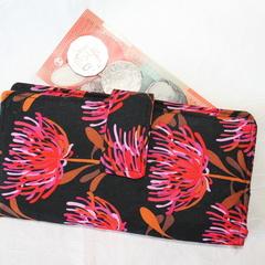 Red blossom wallet