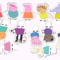 12x EDIBLE wafer  PEPPA PIG cupcake toppers
