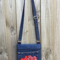 Upcycled Blue Denim Cross Body Bag