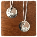 Copper and Silver Bunny Necklace.