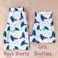 Shorties - High Waist - Dinosaurs - Bright - Retro - Sizes 000-2