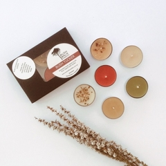 BUSH TUCKER BOX - Beeswax - Tea Lights - Mixed Box