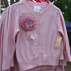 Girls Blingy Pink Cardigan Size 7