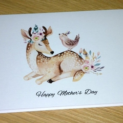Mothers Day card- boho deer
